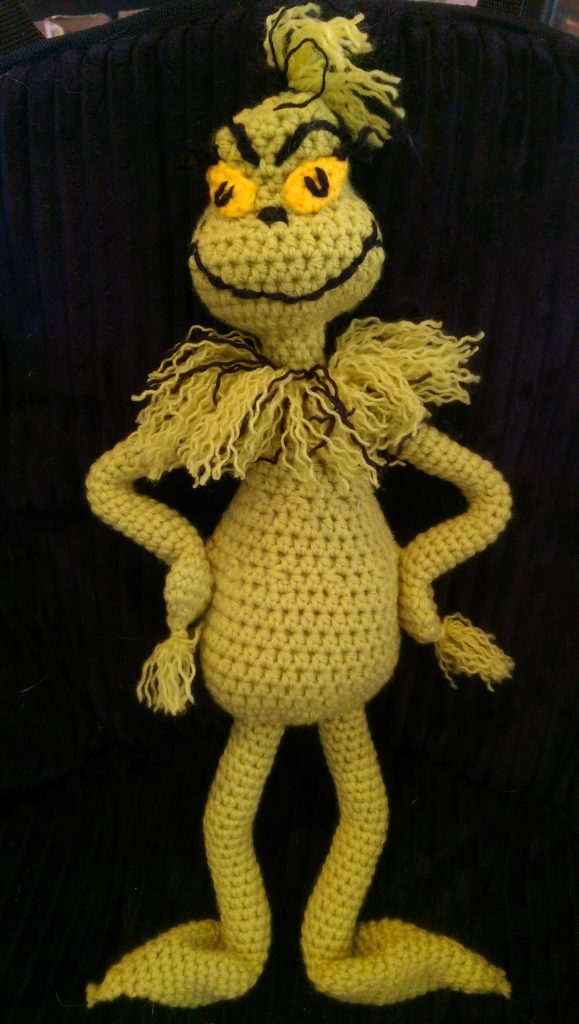 Free Mr Grinch Inspired Doll Crochet Pattern Yarnwars Com