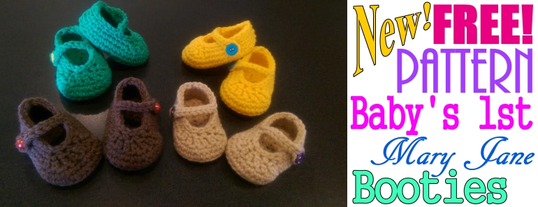 df2763016a64a FREE Baby's First Crochet Mary Jane Booties Pattern - YarnWars.com