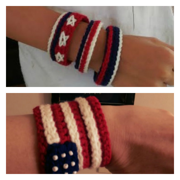 Independence Day American Flag Bracelet Cuff New Free Yarnwars