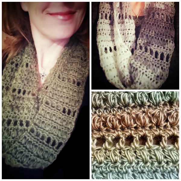 Archway Infinity Dress Scarf Free Crochet Pattern