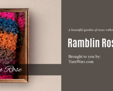 Ramblin Rose Crochet Scarf